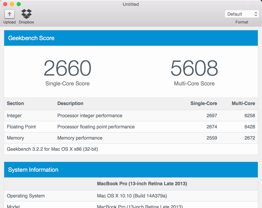 Geekbench - Mac OS X